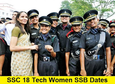 SSC 18 Tech Women SSB Dates, Centre Allotment and Merit List