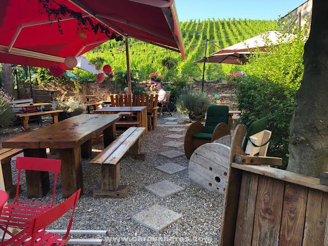 Brasserie du vignoble Biergarten. Riquewihr | Alsacia y Selva Negra
