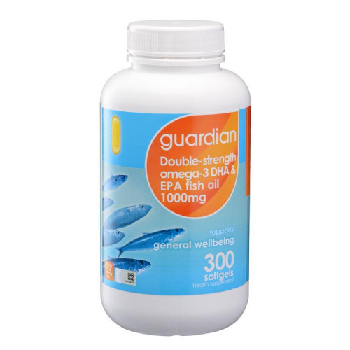 Double-strength Omega-3 DHA & EPA Fish Oil 1000mg