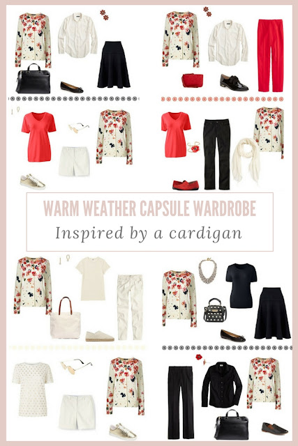 How to Assemble a Warm-Weather Capsule Wardrobe - Bavarian Cream Tossed Floral Cardigan
