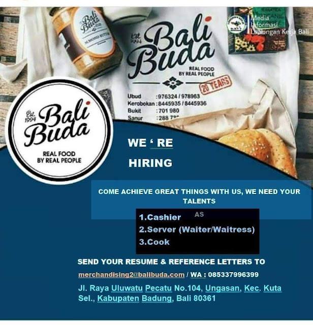 Lowongan Kerja Bali Buda Bukit 2020