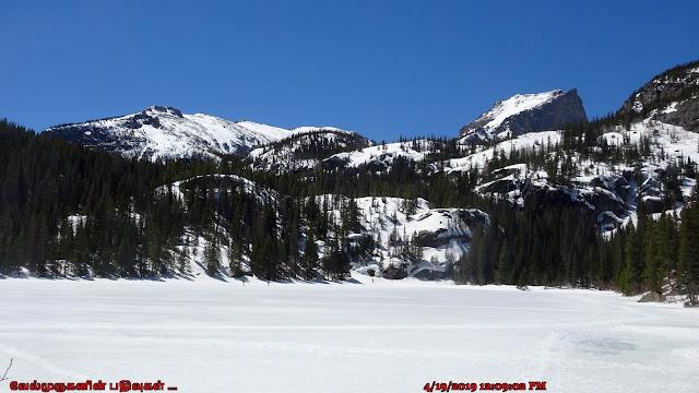 Rocky Mountains Frozen Bear Lake