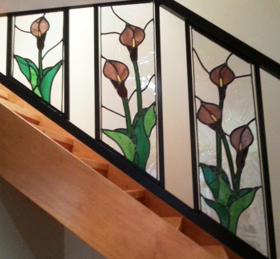 a stained glass stairway - making a silk purse out of a sow's ear