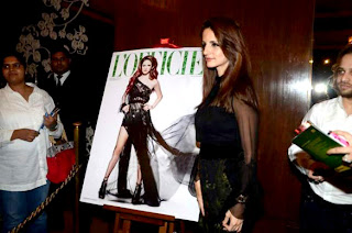 Sussanne Roshan at unveil of her L'Officiel India's magazine cover