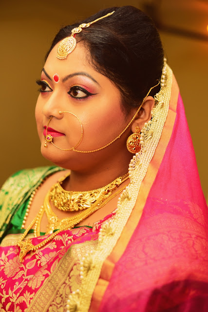 bengali bridal makeup reception
