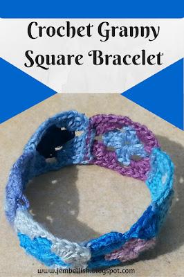 Crochet Granny Square Bracelet