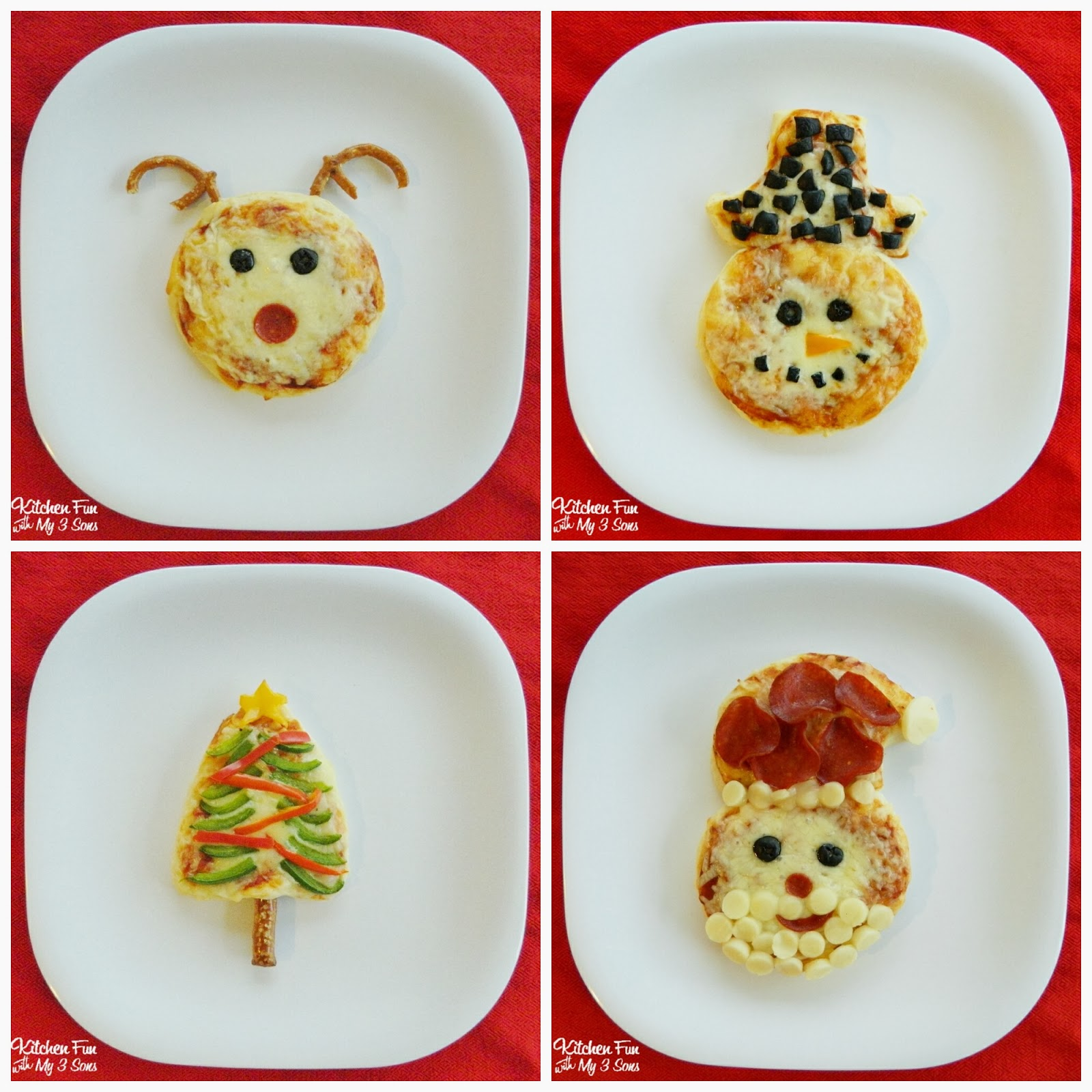 Christmas Biscuit Pizza Ideas Kitchen Fun With My 3 Sons