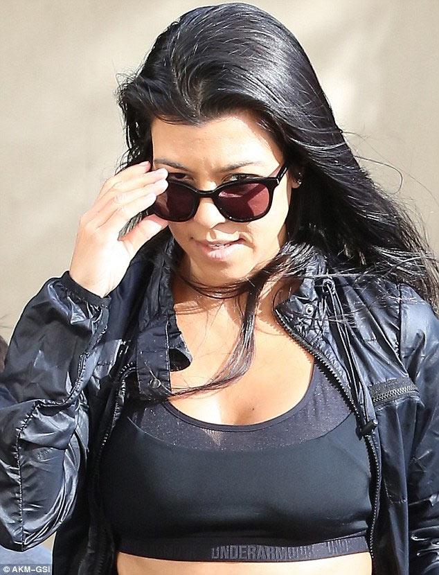 Kourtney replaces Kim Kardashian as mother of 3 steps out in LA