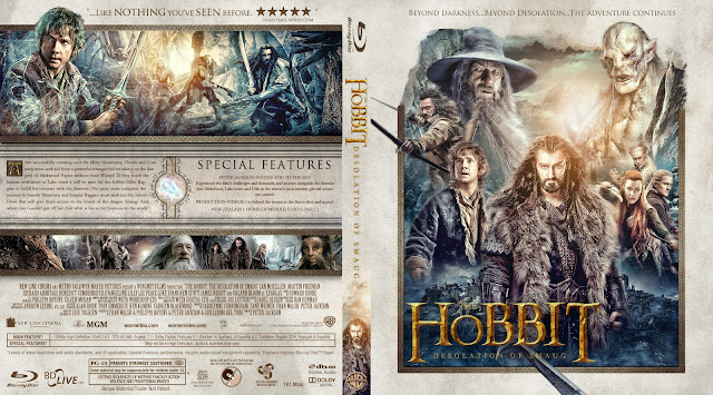 The Hobbit: The Desolation of Smaug Bluray Cover
