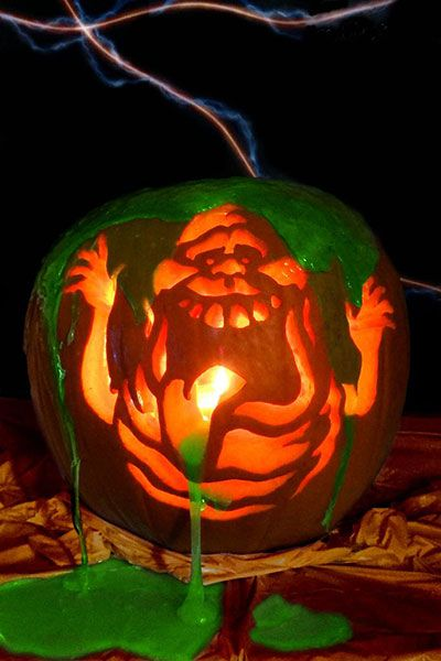 Ghostbusters Slime Ghost Pumpkin