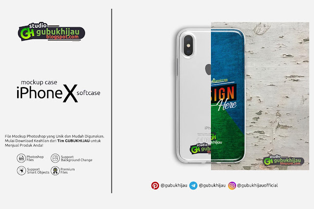 Mockup Softcase Iphone X