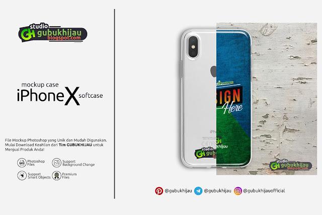 Mockup Softcase Iphone X