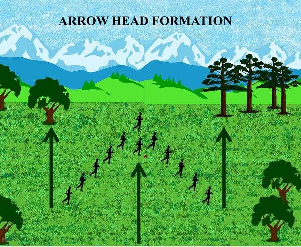 Arrow Head Formation Image