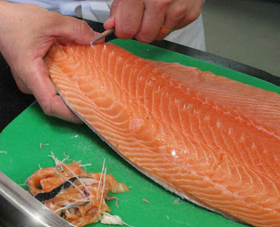 How to Remove the Salmon Pin Bones Fast and Easy