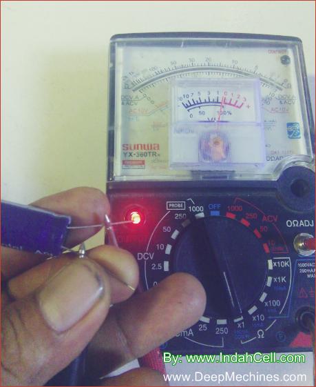 Gambar dan Keterangan Uji Coba Elco dengan ESR Meter Manual
