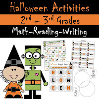 Halloween Activities for Reading Writing and Math