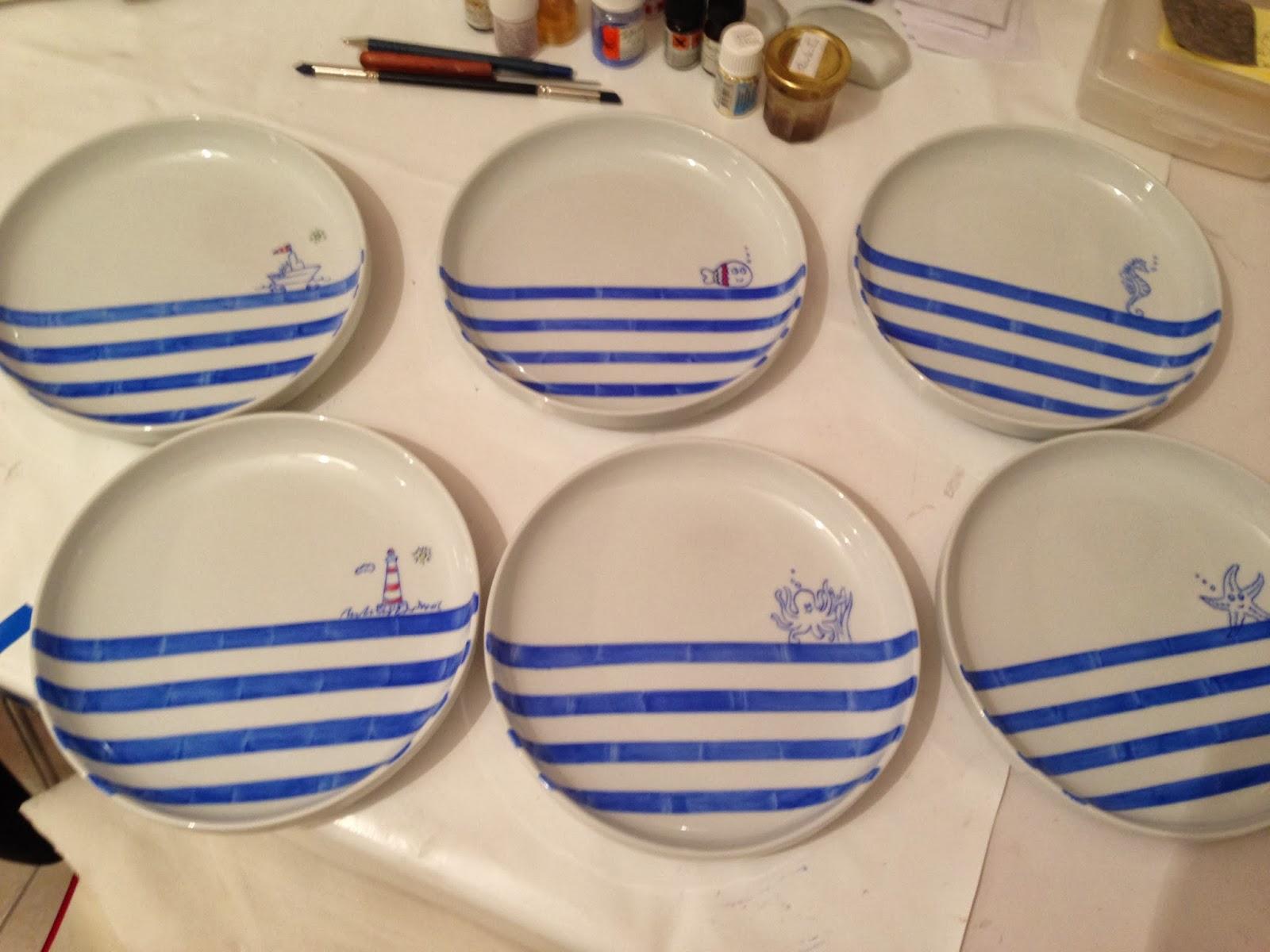Peinture Sur Porcelaine Assiette passion, peinture et porcelaine: les assiettes pour la