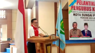 Wako Ahmadi Ucap Selamat Atas Pelantikan Pengurus KORMI Kota Sungai Penuh,