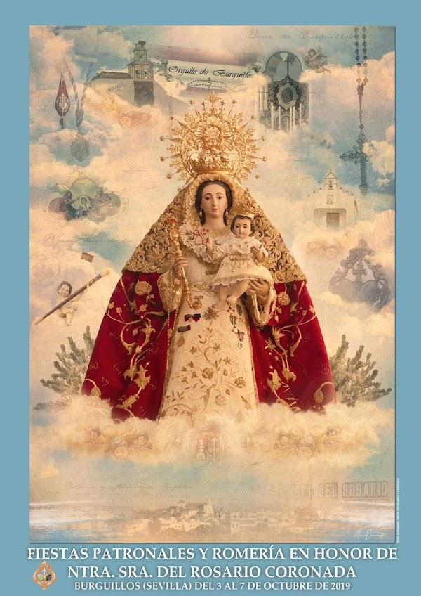 Cartel de la Patrona de Burguillos (Sevilla)