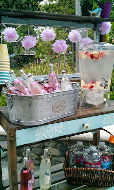 Wedding Shower Beverage Station!