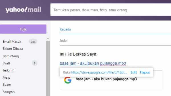 cara mengirim file di google drive ke email