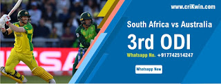 Who will win Today International 3rd match Aus vs SA ODI 2020