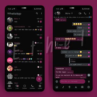 Amoled Mg Dark Theme For YOWhatsApp & Mn WhatsApp By Ethel