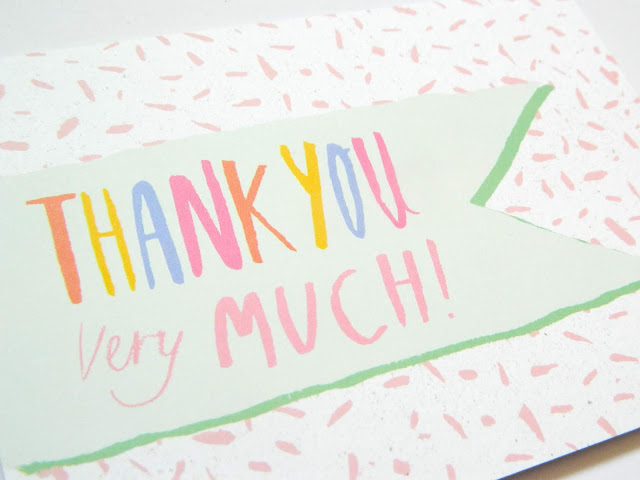 Thank you card from Whale and Bird