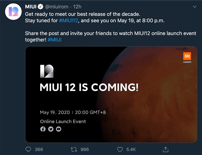 Invitation via the official Twitter account