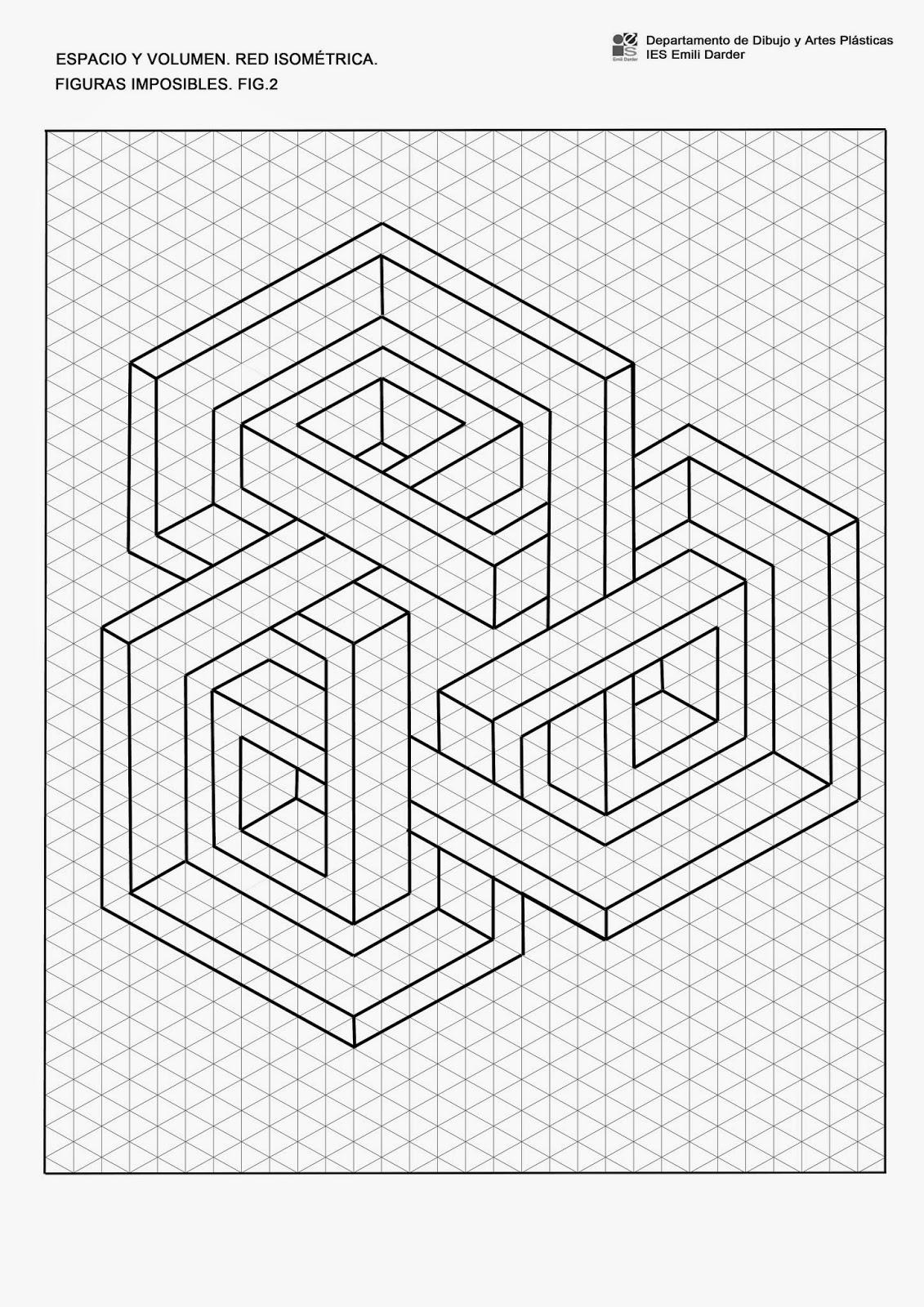 Espacio y volumen red isom trica figuras imposibles - Figuras geometricas imposibles ...