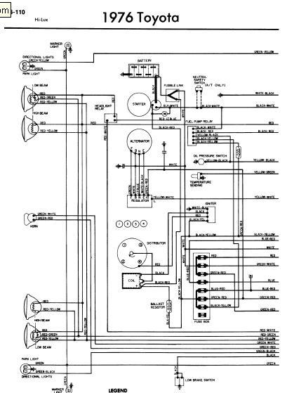 repairmanuals: Toyota Hilux 1976 Wiring Diagrams