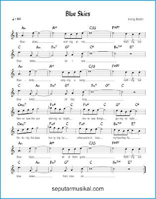 Blue Skies chords jazz standar