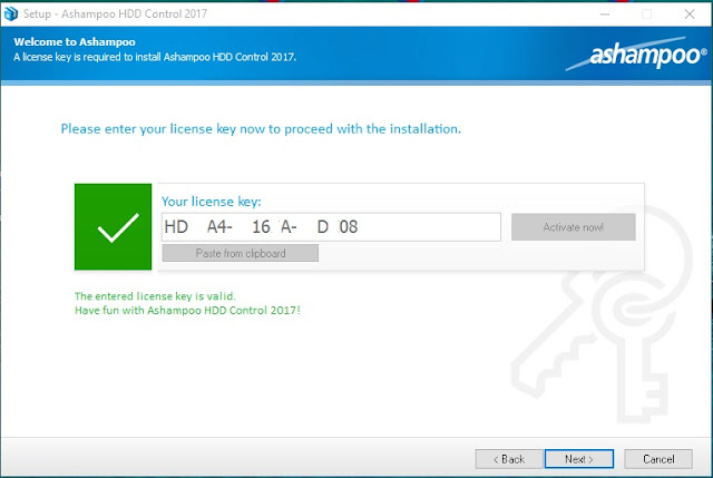 Ashampoo HDD Control 2017 License Key