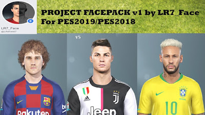 PES 2019 Facepack v1 by LR7