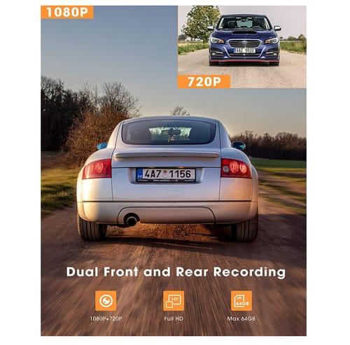 Kingslim D1 Dual Dash Cam with Built-in GPS