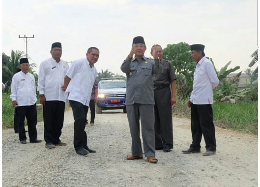 Bupati Inhil, Riau Minta Kualitas Pengerjaan Ruas Jalan Sungai Beringin Diperhatikan