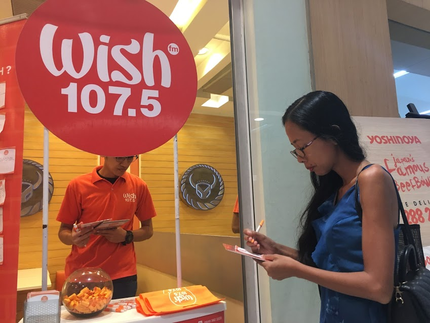 Wish 107.5 FM radio station make a wish