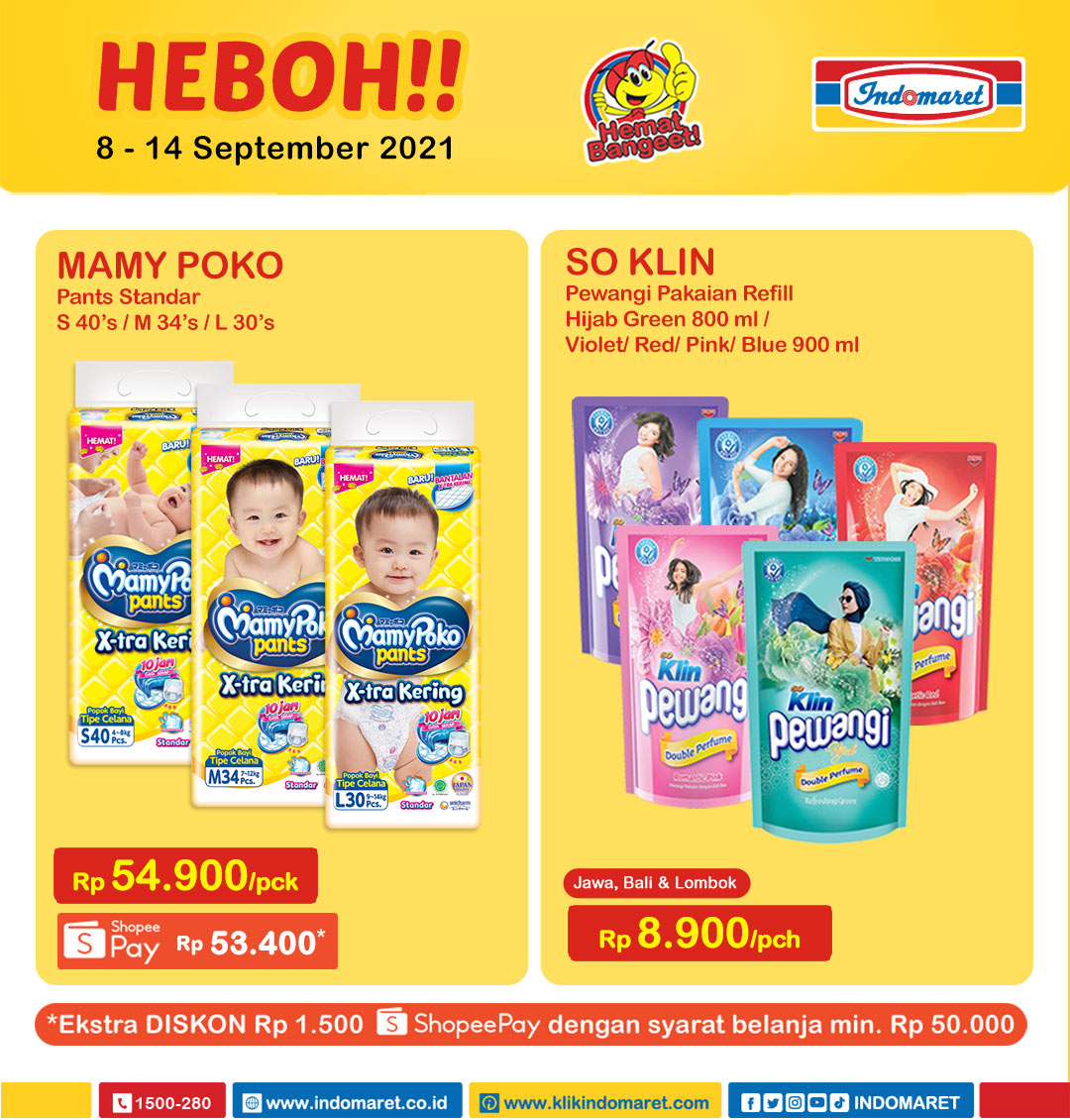 Promo INDOMARET Heboh, Product of The Week 8 - 14 September 2021