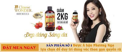A-hau-Phuong-Nga-chia-se-bi-quyet-giam-can-bang-Cleanse-Wonder