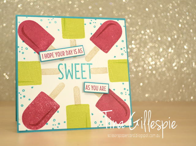 scissorspapercard, Stampin' Up!, Stamp Ink Paper, Cool Treats, Eclectic Expressions