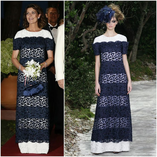 Princess Caroline in Chanel (Spring 2013 Couture)