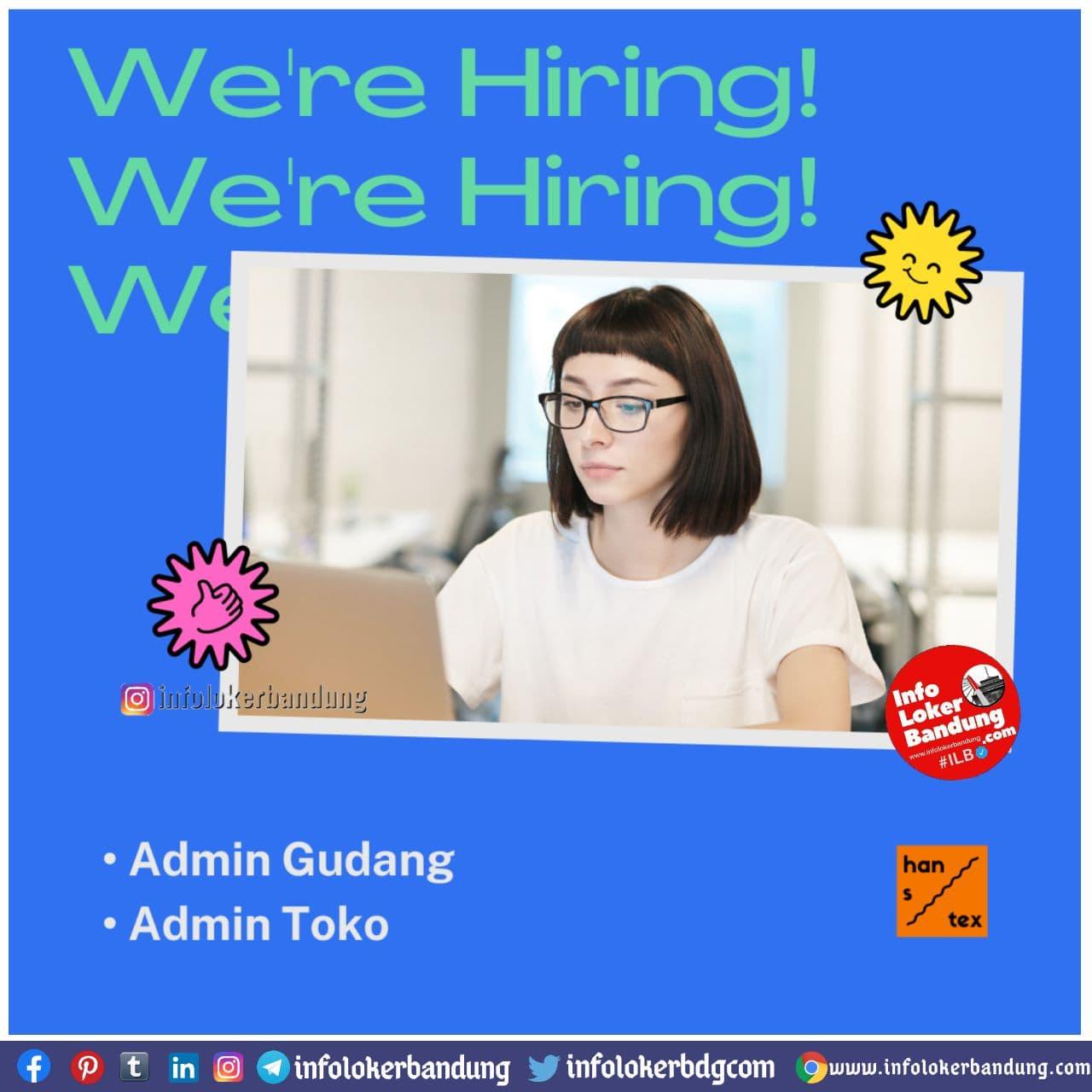 Lowongan Kerja Hanstex Bandung Januari 2021
