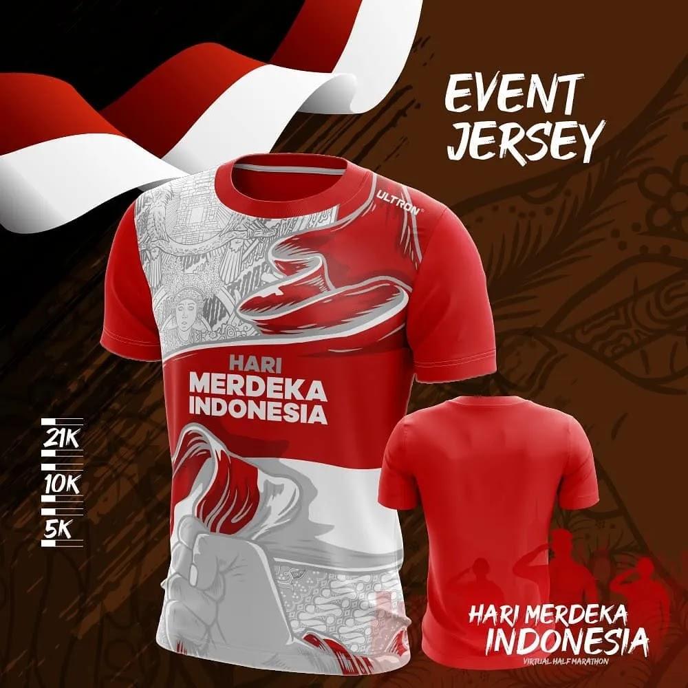 Running Tee 👕 Hari Merdeka Indonesia Virtual Half Marathon • 2021