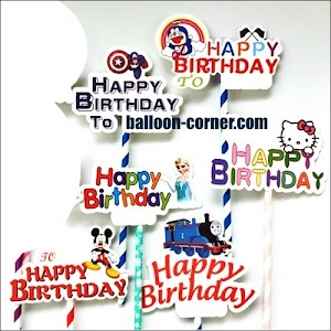 Topper Kue HAPPY BIRTHDAY Seri Karakter
