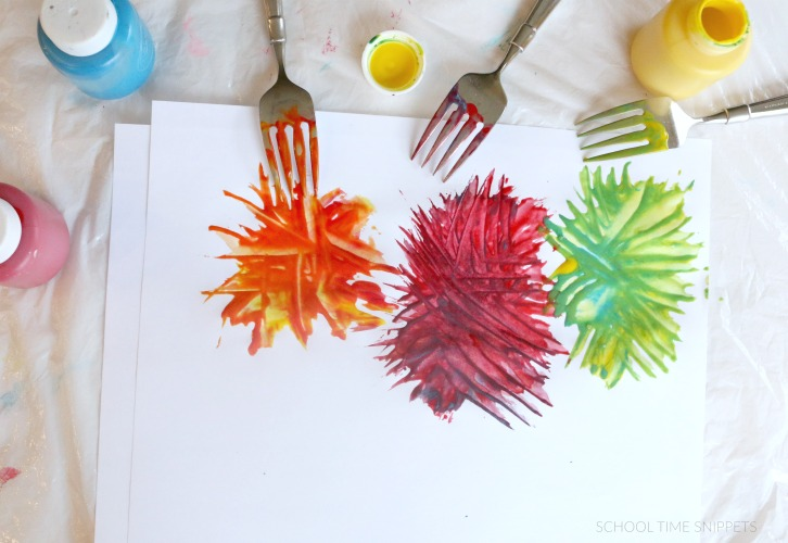 color mixing truffula trees craft