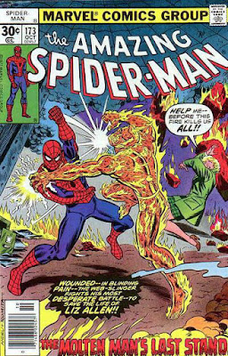 Amazing Spider-Man #173, the Molten Man is back
