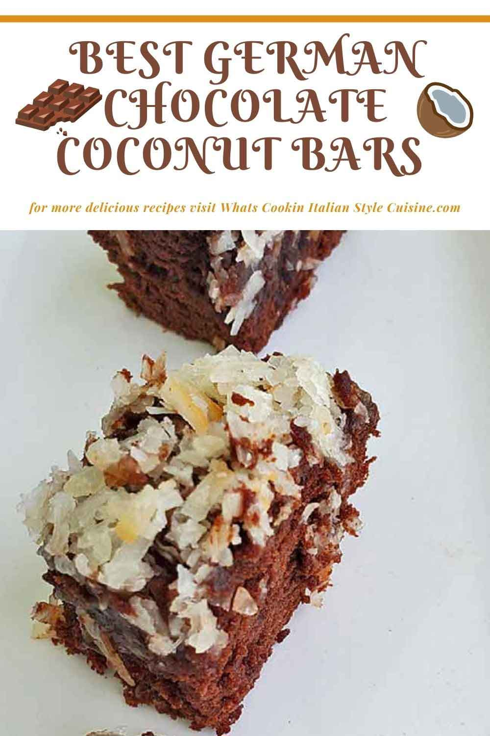 this is a pin for later how to make German Chocolate Brownie Bars