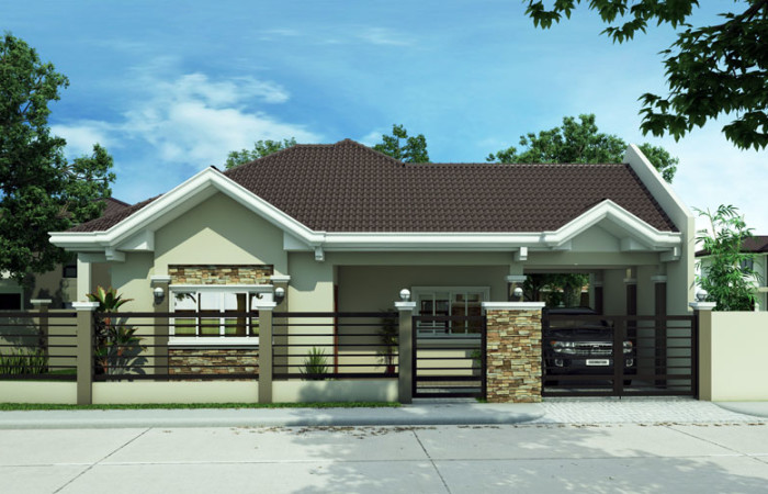 The best bungalow styles and plans in philippines bahay ofw Medium sized home plans