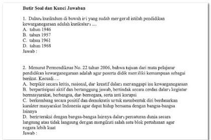 Soal Ujian UT PDGK 4201 Tahun 2018 (Matematika, Bahasa Indonesia, IPA, PKn)