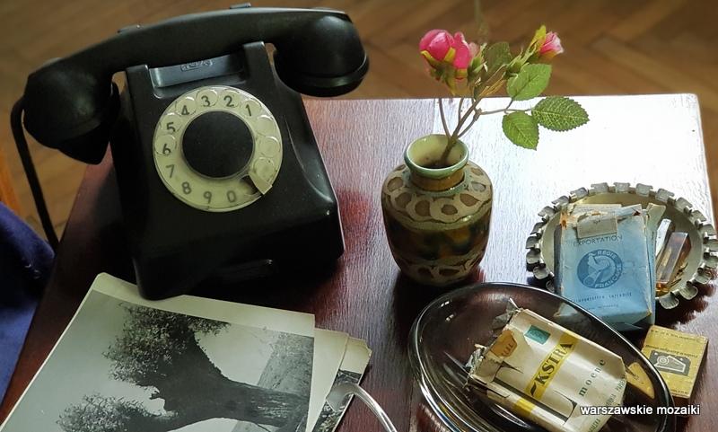 Warszawa Warsaw willa architektura muzea Mokotów pisarz poeta telefon papierosy zdjęcia